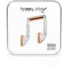 Happy Plugs Mic and Remote In-Ear Headphones - Marble