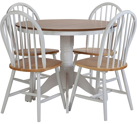 Versatile Kitchen Table And Chair Sets For Your Home: Buy Collection Kentucky Fixed Dining Table & 4 Chairs- Two
