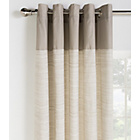 HOME Norfolk Unlined Eyelet Curtains - 117x183cm - Stone