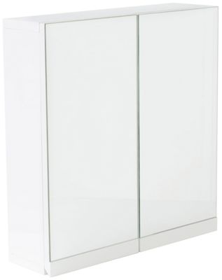 Hygena Gloss Double Door Wall Cabinet - White