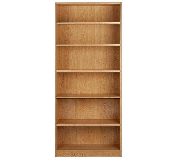 Buy home maine tall and wide extra deep bookcase beech How deep should a bookshelf be