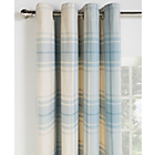 Heart of House Angus Check Lined Curtains - 117x183cm - Blue
