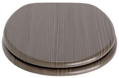 Collection Wood Veneer Toilet Seat - Grey