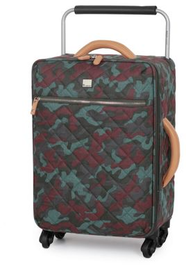 IT Luggage Cabin Quilted Camo Suitcase 3 Wheel - Ivy