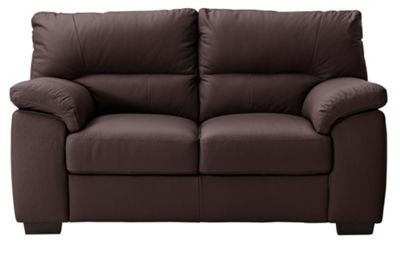 argos living room furniture buy collection piacenza 2 seater leather sofa chocolate 17728
