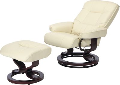 Best Deal Santos Recliner Chair And Footstool Ivory 25