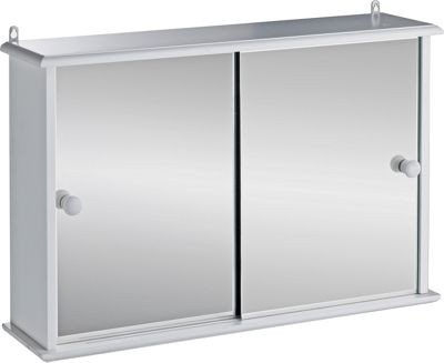argos white bathroom cabinet buy home sliding door bathroom cabinet white at argos co 10738