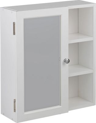 argos white bathroom cabinet buy home single mirror bathroom cabinet with shelves 10738