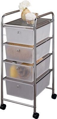 storage drawers on wheels buy home 4 drawer storage trolley on wheels at argos co uk 26871