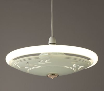 Buy Home Circular Fluorescent Etch Flush Ceiling Fitting