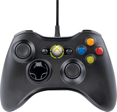 Microsoft Xbox 360 Wired Controller - Black