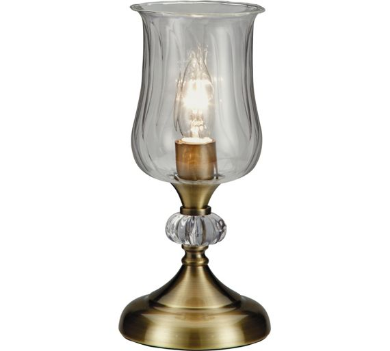 Buy collection hurricane touch table lamp antique brass